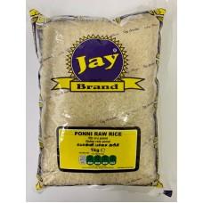 Jay Brand Ponni Raw Rice 1kg