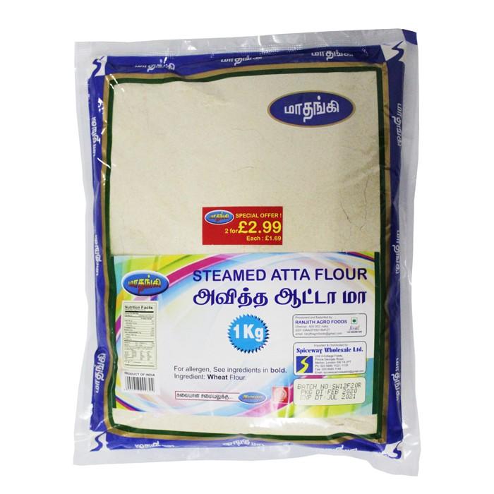 Mathangi Steamed Atta Flour 2 pack for £2.99 (2 x 1Kg)
