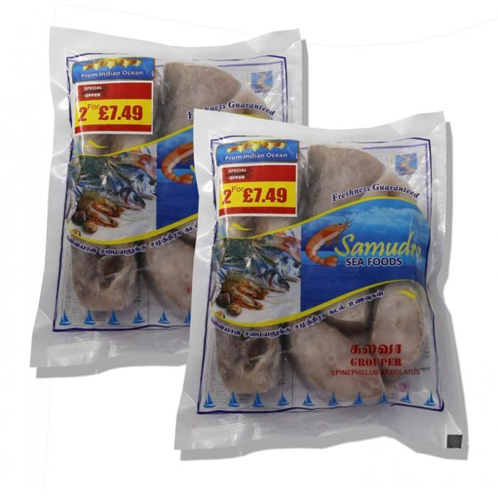 Samudra Grouper Steak 700g  2 for £7.49 (Frozen)