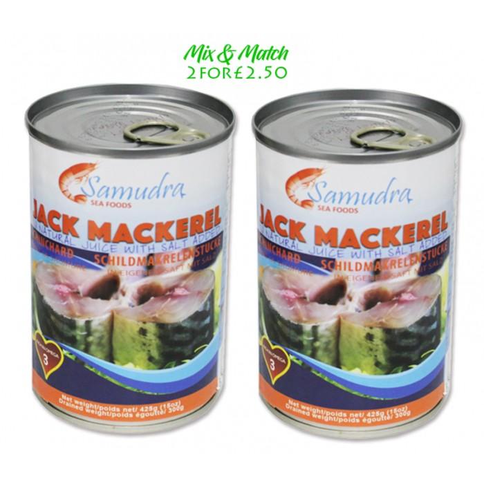 Samudra Jack Mackerel 2 x 425g  Mix & Match Deal