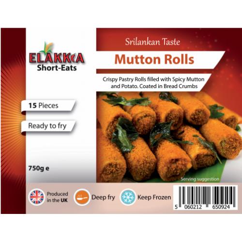 Elakkia - Mutton Rolls (Uncooked) (Frozen) 12pcs