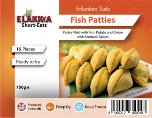Elakkia Fish Patties Uncooked 15pcs